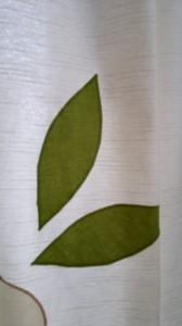 listy na závěsu - nášivka