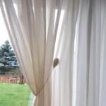 záclona - venkovský styl