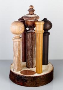 Dřevěné rustikální garnýže