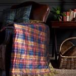 Skotské kostky na hedvábném dupionu