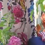 tisk na bavlně - venkovský , zámecký styl